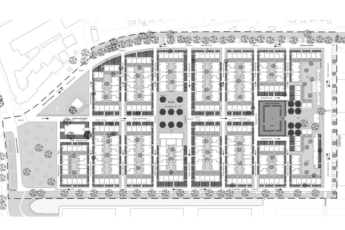 De Nijl Architecten - Herinrichting Vogeldorp en Disteldorp